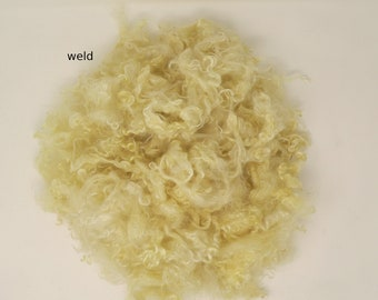 Plant-dyed mohair weld