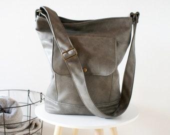 00b538221e Vintage sack vegan   simple minimal bag   fake leather   vegan leather    vegan bag   crossbody bag   shoulder bag   school everyday retro