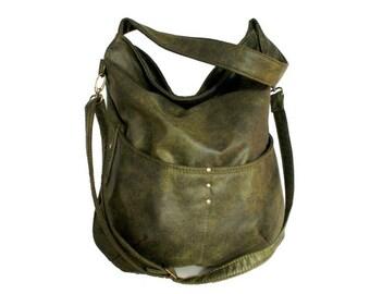 11865304c9 Everyday handbag shoulder bag zipper   fake leather faux leather vegan  minimal simple boho express   green khaki casual street gift ethnic