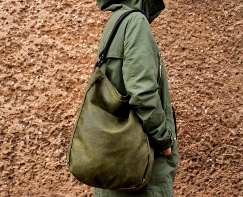 5f74082fead6d IKS vegane Tasche   Khaki olivgrün braun   jeden Tag große