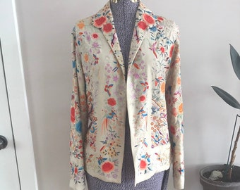 8c38fb665b03 Late 1920s  early 1930 s vintage embroidered jacket chinoiserie