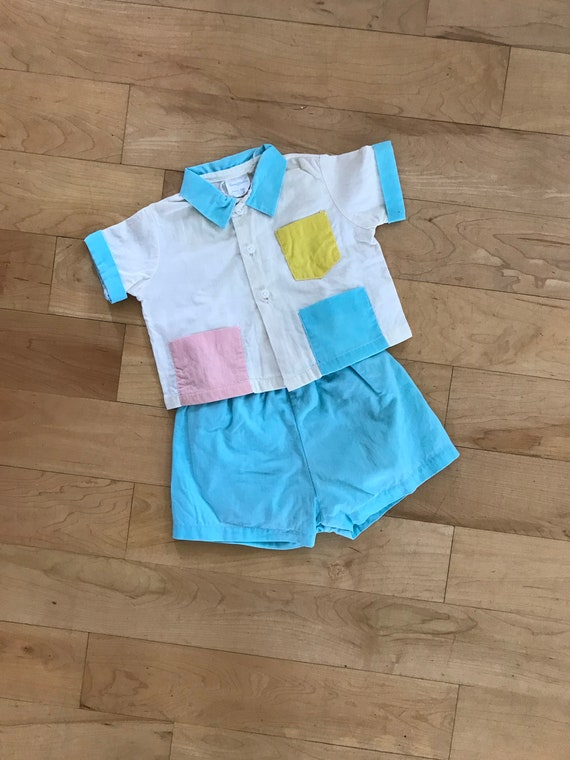 Rare late 40's early 50's baby 2-piece outfit, sho