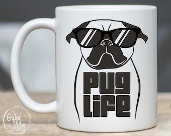 bdac4c4e4 Pug Mug, Pug Life Mug, Funny Pug Coffee Mug, Pug Mom Mug, Pug Dad Gift, Pug  Gifts