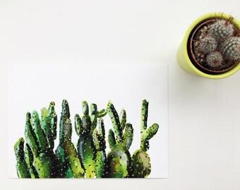 Cacti painting, cacti art, cactus painting, cactus art, cacti gift, cactus picture, cactus present, cacti print, cactus, cacti, cacti owner,