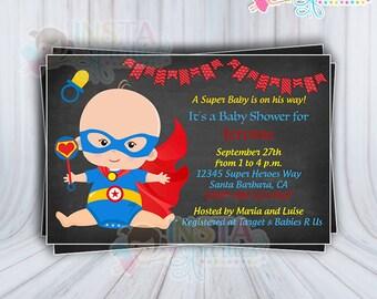 Invitaciones Flash Superheroe Bebe Nino Invitacion Tarjeta