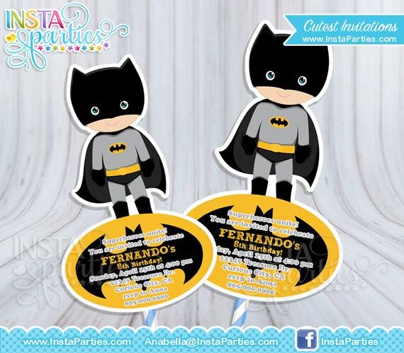Invitaciones Batman Superhéroe Bebe Niño Invitación Tarjeta Tarjetas Imprimible Super Heroes 4x6 5x7 Fiesta Superhéroes Cumpleaños Cumple