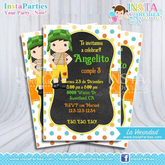 Invitaciones El Chavo Del 8 Ocho Fiesta Cumple Cumpleaños La Chilindrina Decoraciones Ideas La Vecindad Del Chavo Chavito Animado Tarjetas