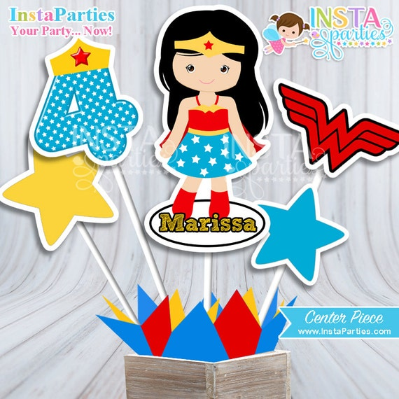 Invitaciones Mujer Maravilla Superhéroe Bebe Niña Niñas Invitación Tarjeta Tarjetas Imprimible Super Heroes 4x6 5x7 Fiesta Cumpleaños Cumple