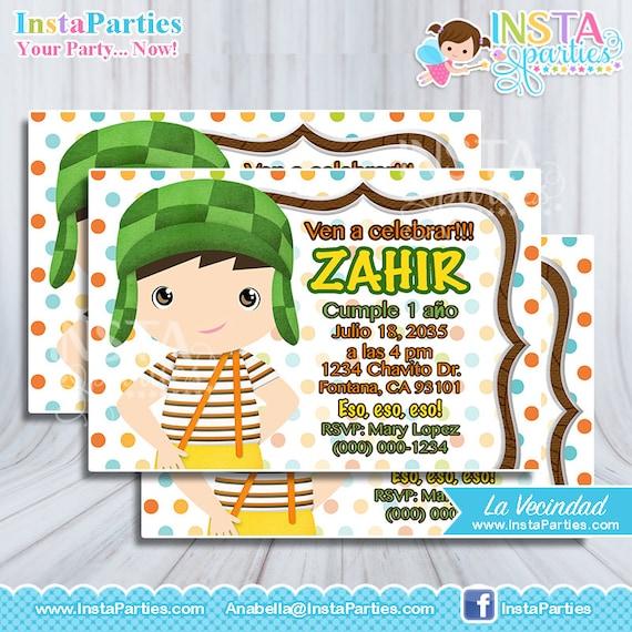 Invitacion El Chavo Del 8 Ocho Fiesta Cumple Cumpleaños La Chilindrina Invitaciones Ideas La Vecindad Del Chavo Chavito Animado Tarjetas