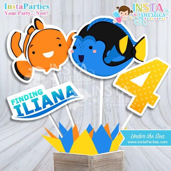 Invitaciones Buscando Nemo Dory Tarjetas Invitación Baby Shower Océano Mar Tarjeta Imprimible 4x6 5x7 Fiesta Cumpleaños Cumple Peces