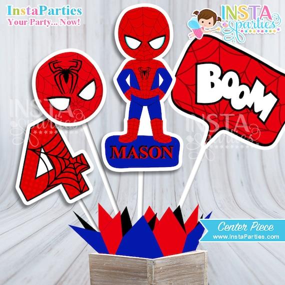 Centro De Mesa Spiderman Centro Mesa Hombre Araña