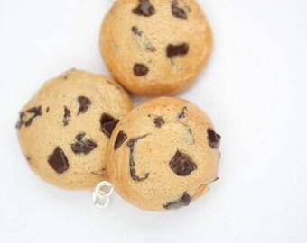 Chocolate Chip Cookie Polymer Clay Miniature Food Charm