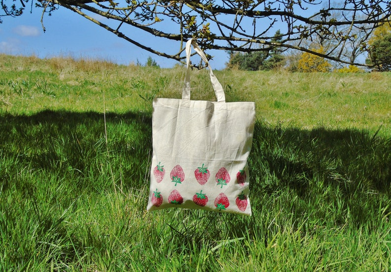 - Ecofriendly Shopper 100/% Recycled Cotton Name on Bag Personalised Hand Printed Tote Bag Unique Useful Fathers Day Gift
