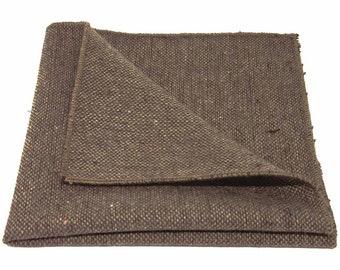 Handkerchief Highland Weave Latte Brown Pocket Square