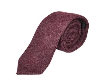 aabe99bde090 Burgundy Donegal Tweed Tie