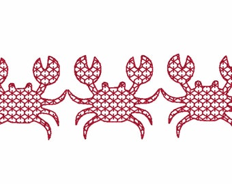 d998cf900 Crab Motif Trio Quick Stitch Embroidery