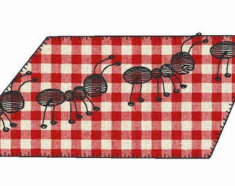 Ant Picnic Applique and Quick Sketch Embroidery