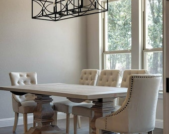 Trestle Dining Table- Pine Wood