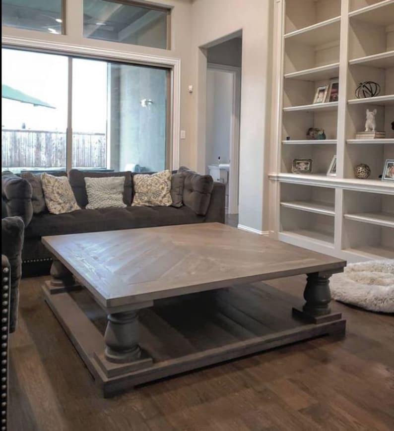 Restoration Hardware Coffee Table.Restoration Hardware Inspired Balustrade Coffee Table