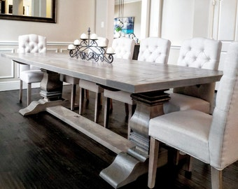 Trestle Dining Table- Ash Wood