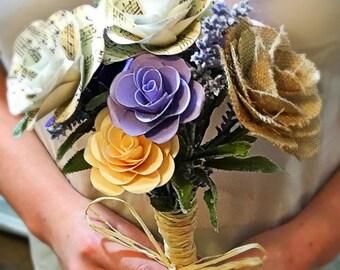 Handmade Customizable Paper Flower Bridesmaid Bouquet