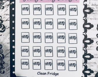 Clean the Fridge Planner Stickers