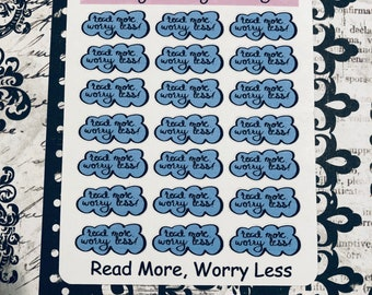 Read More, Worry Less Planner Stickers