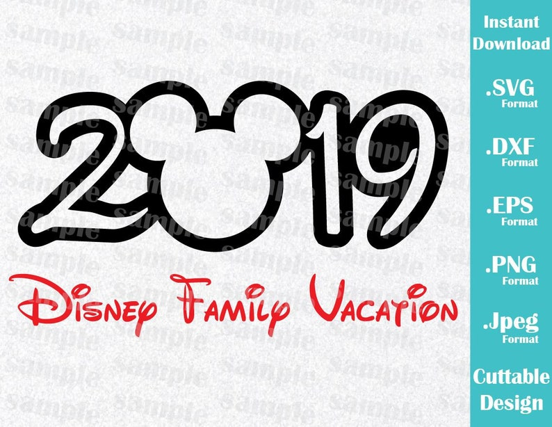 INSTANT DOWNLOAD SVG Disney Vacation 2019 Inspired Mickey ...