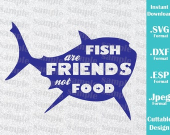 INSTANT DOWNLOAD SVG Disney Inspired Bruce from Nemo Fish are Friends for Cutting Machines Svg, Esp, Dxf and Jpeg Format Cricut Silhouette