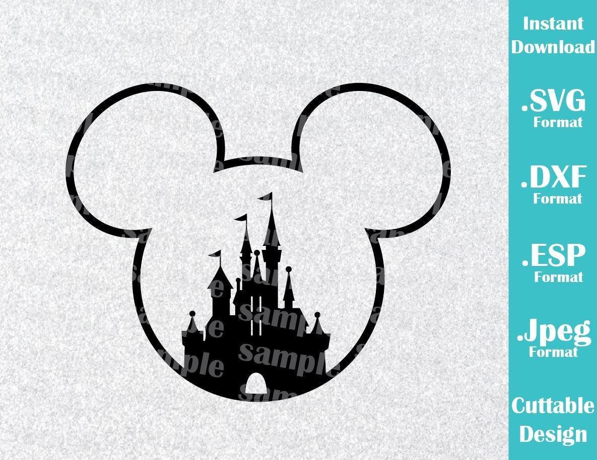 Descarga inmediata SVG Disney inspirado Castillo Mickey Mouse | Etsy