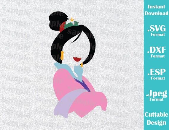 INSTANT DOWNLOAD SVG Disney Inspired Princess Mulan For
