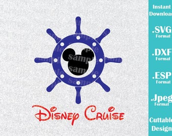 INSTANT DOWNLOAD SVG Disney Inspired Mickey Mouse Cruise Ears for Cutting Machines Svg, Esp, Dxf and Jpeg Format Cricut Silhouette