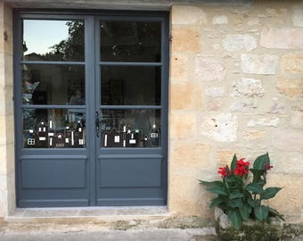 Houses on window, windowdrawing houses, chalk drawing houses, template houses, window frames, DIY template houses