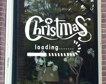 Christmas Loading, christmas windowdrawing, chalk christmas, digital download christmas, christmas window decoration