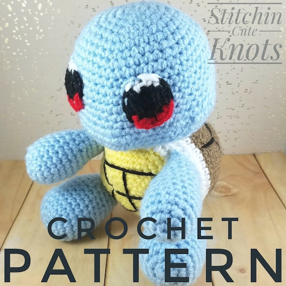 Amigurumi Squirtle Pattern Crochet Squirtle Pattern Etsy