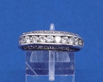 Size 875 Vintage Sterling Silver Ring Solid 925 Band With Cluster Crystal Stamped Big Cn Engagement Anniversary