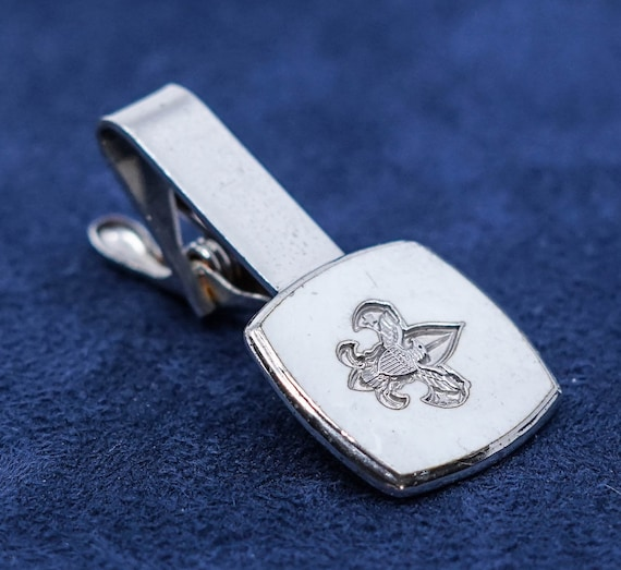TIE TACK FEATHER Sterling Solid Sterling Silver Signed