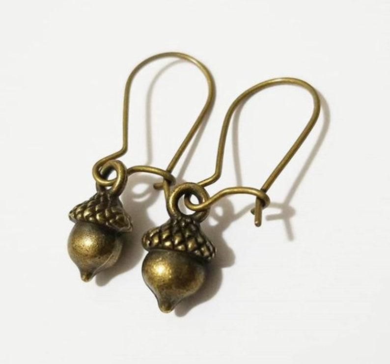 Cute Earrings Kidney Ear Wire Small Acorn Earrings Cute Earrings