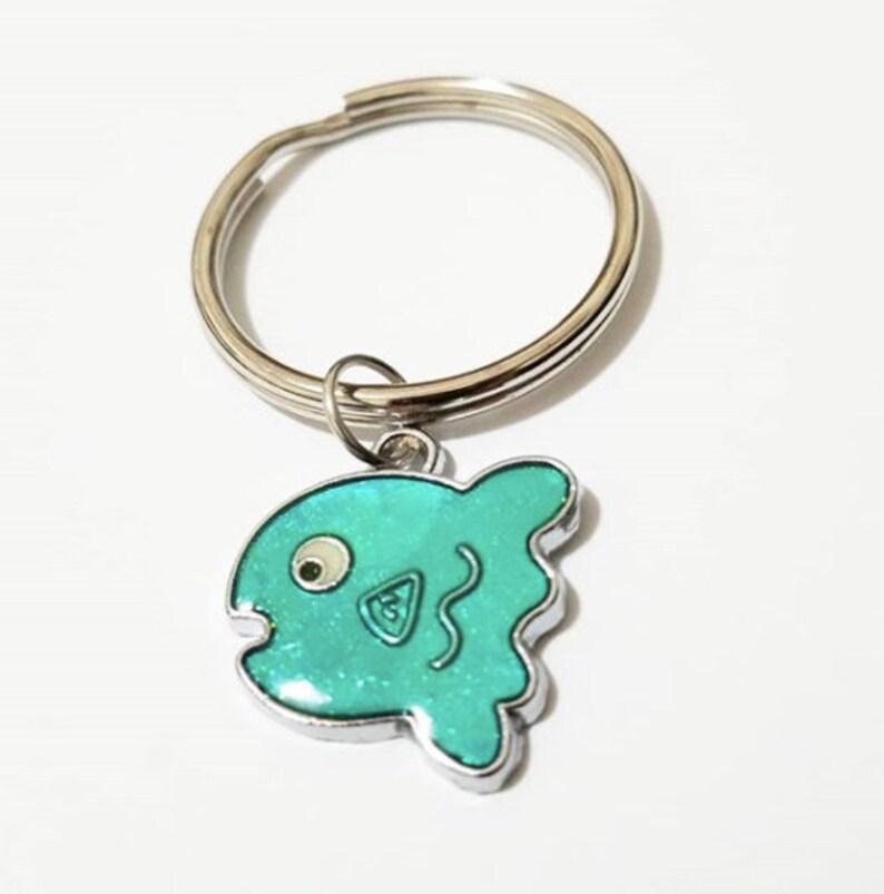 Key Organizer Tropical Fish Keychain Green Fish Keychain,Animal Keyring