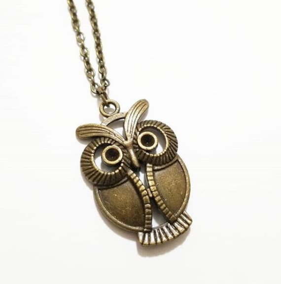 Long Boho Necklace Owl jewelry Bohemian Black Necklace Gifts for women Owl Charm Necklace Crystal Necklace Statement Necklace