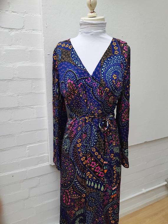 A stunning 1970's Thea Porter printed silk dress