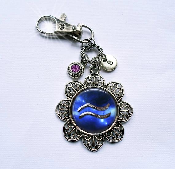 May Taurus Zodiac Filigree Crescent Moon Necklace w-Swarovski Emerald Birthstone Crystal /& Letter Charm of Your Choice