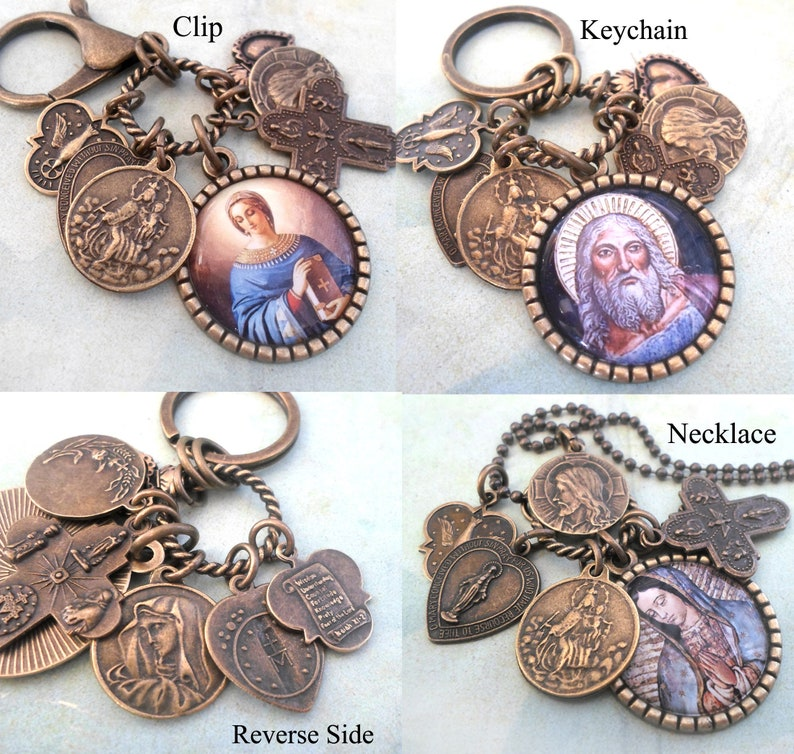 St Handcrafted with lOve! Confirmation Gift Patron Saint Serafina Necklace Catholic Jewelry Keychain or Clip