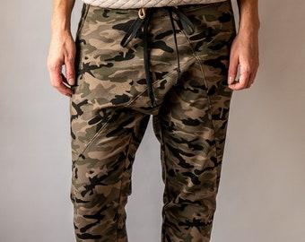 Baggy style camo pants, custom tailor made