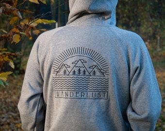 Wanderlust Hoodie / Sweatshirt Original Design Bio Cotton