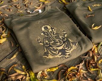 Ganesh Sweatshirt Original Design Bio Cotton