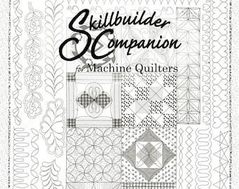 Skillbuilder Kit for Machine Quilters - Companion Book w/Panels 1 and 2 - by Renae Allen for Free-Motion Quilting by Machine