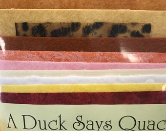 "Fabric pack for ""A Duck Says Quack"" machine embroidery applique quilt"