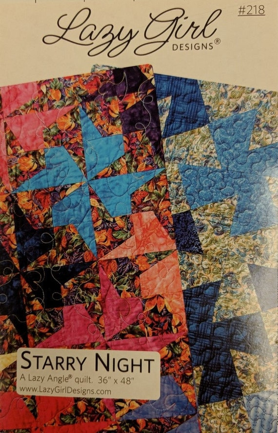 Starry Night Quilt Pattern From Lazy Girl Designs By Joan Etsy