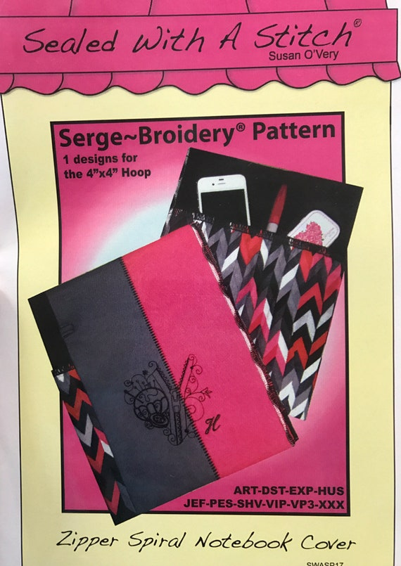 Sewing Tote Serge-Broidery project on multi-format CD by Sue O/'Very Designs